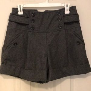 Anthropologie wool high waist shorts size 8 gray